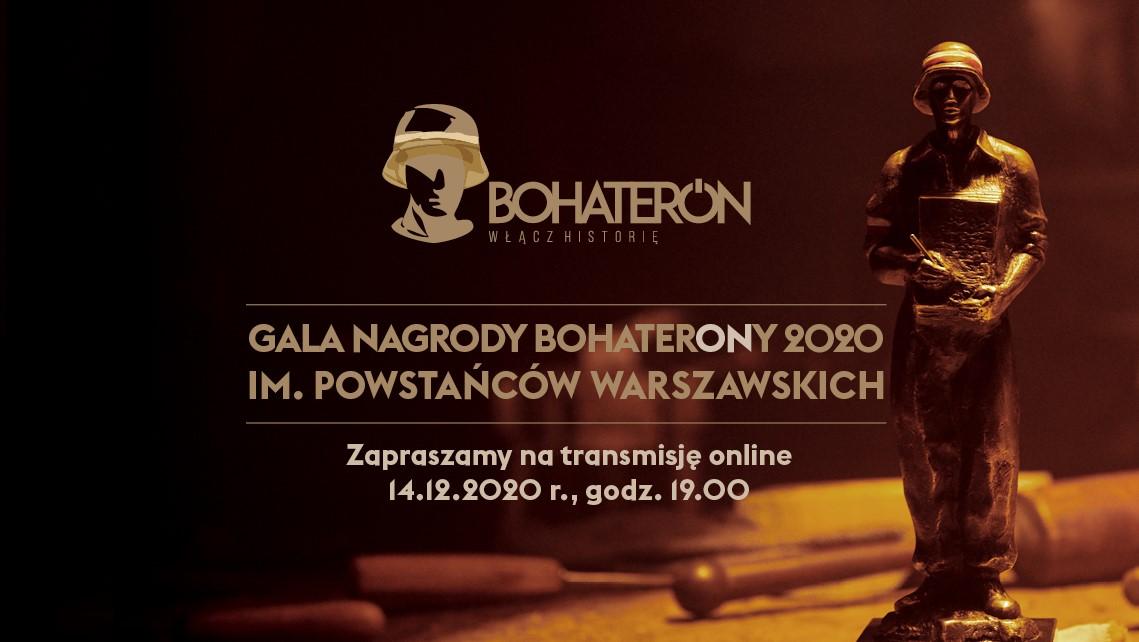 Gala Finałowa Nagrody BohaterONy 2020 im. Powstańców Warszawskich